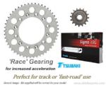 RACE GEARING: Steel Sprockets and GOLD Tsubaki Sigma X-Ring Chain - Kawasaki ZX-9R (1998-2001)